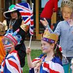 Fancy dress at jubilee celebrations